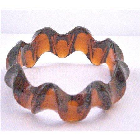 UBR188  Fashionable Brown Bangle Under Dollar 5 Bracelet Gift Party Brown Bracelet