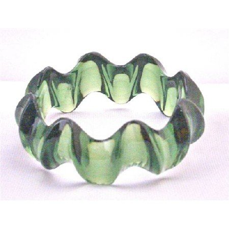 UBR187 Stylish Bangle Bacelet Affordable Dark Green Elegant Bangle Green Acrylic Fancy Bangle