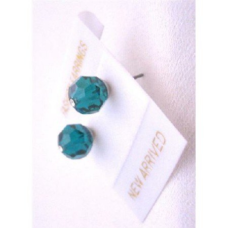 UER332  Emerald Crystals Stud Earrings Affordable Bridemaides Crystals Stud Earrings