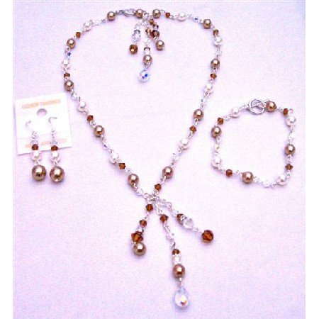 BRD958 Bracelet Wedding Affordable Inexpensive Back Drop Down & Front Drop Down Jewelry Set