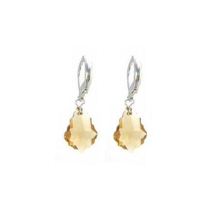 ERC628  Lite Colorado Baroque Crystals 92.5 Sterling Earrings