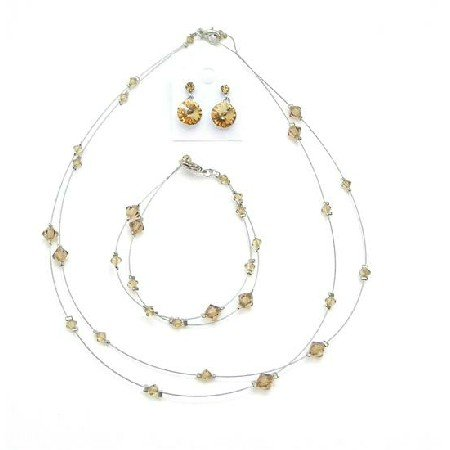 BRD992  Delicate Lite Colorado Attire Jewelry Set Inexpensive Jewelry