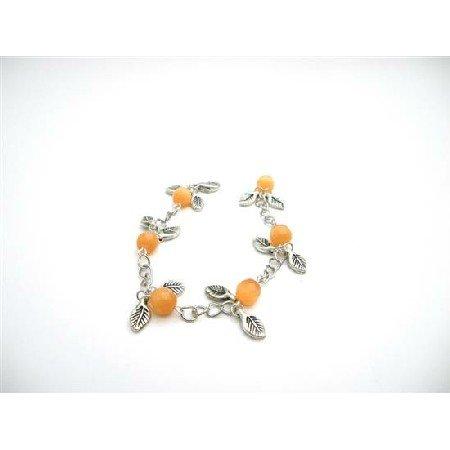 TB923 Bracelet Prom Stylish Jewelry Affordable Wedding Gift Orange Cat Faceted Bracelet