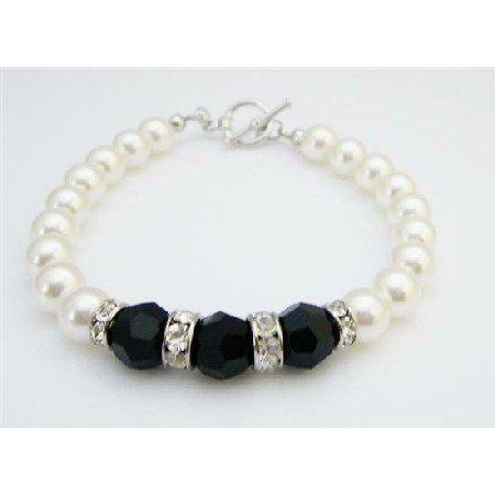TB933 Wedding Gift Jewelry Bridemaids Shower Jewelry With Silver Rondells Beautiful Bracelet