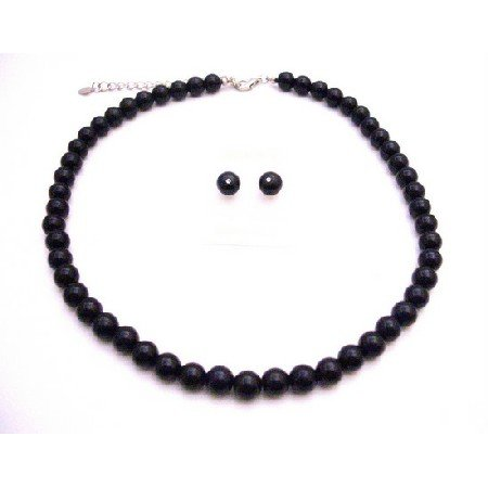 NS839  Black Pearls Wholesale Jewelry Under Bridemaids Necklace Set