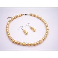 NS897  Shop Cheap Jewelry Inexpensive Wedding Pearls Daffodill Necklace Set