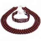 BRD099  Jewelry Gift Mother of Bride Or Groom In Wine Color Jewelry
