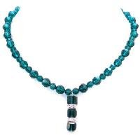 N912  Emerald Crystals Round Bead Genuine Swarovski Crystals Necklace Gift