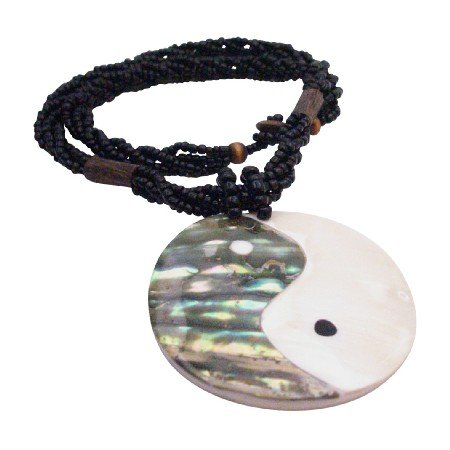N903  Ethnic Vintage Shiva Eye Shell Pendant Necklace
