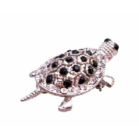 B356  Cheap Brooch Cheap Pendant Jet Crystals Pendant Jet Crystals Pendant Turtle Brooch
