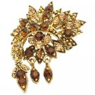 B549  Artistically Designed Vintage Brooch Scarf Jacket Brooch