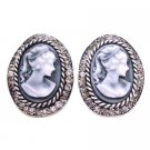 ERC667  Looking For Gift Find Classy Jewelry Cameo Earrings With Crystals