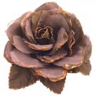 B542  Soft Cocoa Color Flower Brooch Perfect Shade To Go w/ Any Outfit