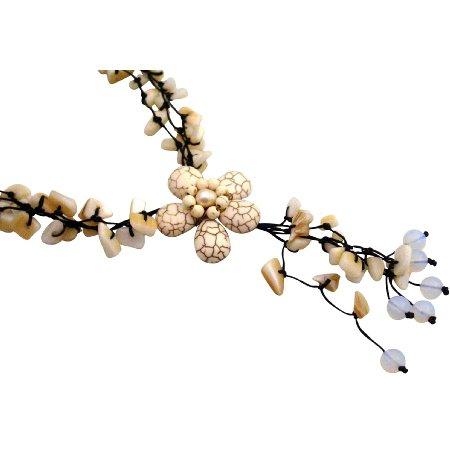 N930  White Turquoise Necklaces Stylish Stunning Necklace