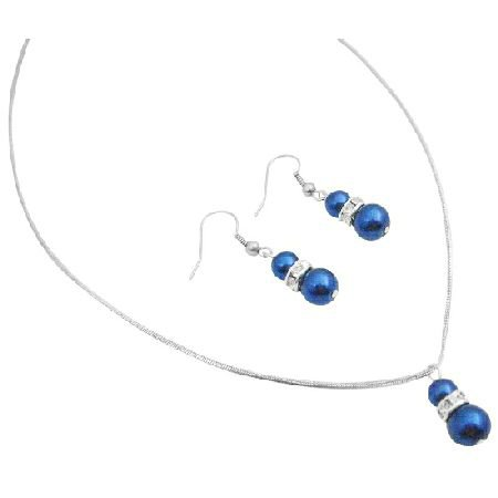 NS011  Find A Great Selection At Fashion Jewlery For Everyone Dark Blue