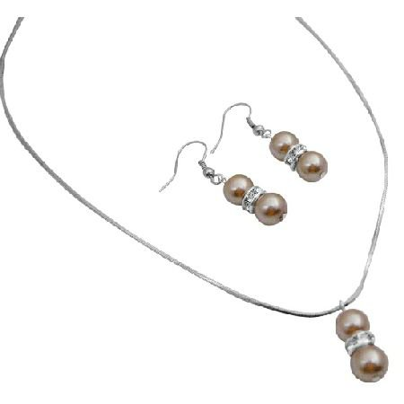 NS012  New Collection Era Jewelry Pageant Prom Champagne Pearls Jewelry