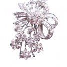B168 Tiny Flowers All Over Decorated Sparkling Simulated Diamond Brooch CZ BROOCH