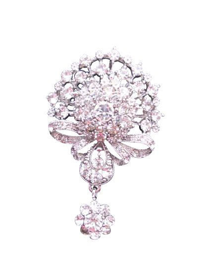 B163 Cubic Zircon Brooch Sparkling Diamond Brooch Simulated Diamond Dangling Brooch