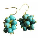 UER531  Cluster Turquoise Earrings With Effervescence Earrings