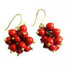 UER533  Effervescence Cluster Coral Earrings