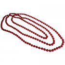 UNE327  Summerish Beach Red Multifaceted Beads Fun Wear Necklace