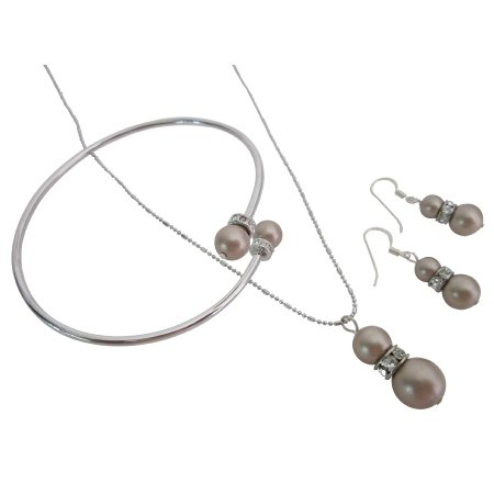 BRD1068  Delicate Budget-Priced For Your Wedding Champagne Jewelry