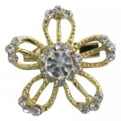 B606  Dazzling Appealing Golden Flower Brooch
