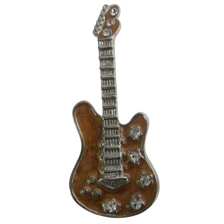 B600  Classic Guitar Brooch For Music Band Club