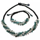 NS1077  Fine Turquoise Nugget & Freshwater Pearls Birthday Gifts