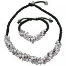 NS1084  Designer Inexpensive Fashionable Rose quartz Nuggets Freshwater Pearls Jewelry