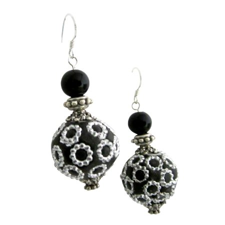 ERC748  Ethnic Elegant Handmade Bead Earring Holiday Gift