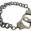 HH249 Open & Close Handcuff Bracelet Stunning Silver Bracelet Thick Chained Bracelet