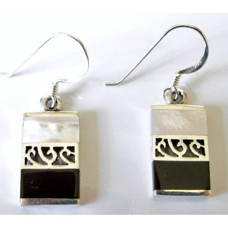 SER097  Fabulous Gift Buy Sterling Mother Of Pearls Earrings