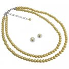 NS1115  Bridal Collection Customize In Your Color Length Yellow Pearls Jewelry Set