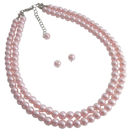 NS1111  Pearls Jewelry Set Most Popular Bridesmaid Gifts Pink Pearls Jewelry