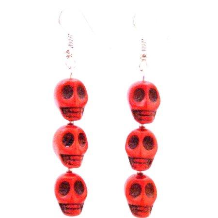 Free Shipping Buy Halloween Gift Skull Earrings