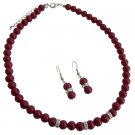Young Girls Beautiful Red Jewelry Unimaginable Its Breathtaking Set