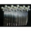Gift Beautiful Hair Accessory Butterfly Bow Pearls Rhinestone Hair Comb