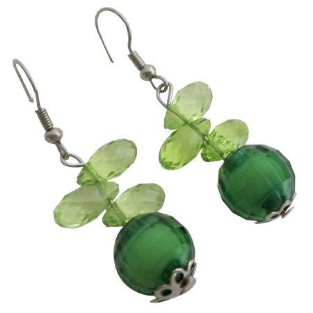 D292 Girls Return Gifts for Kids Birthday Green Teardrop Jewelry