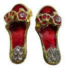 D287 Striking Red Cute Slipper Earrings
