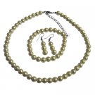 NS712 Wedding Pearl Jewelry Set Ivory Pearl Complete Set With Bracelet