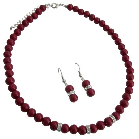 NS1174 Young Girls Beautiful Red Jewelry Unimaginable Its Breathtaking Set