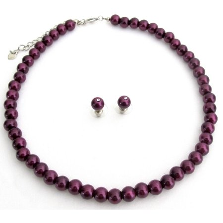 NS1270 Beautiful Deep Purple Wedding Jewelry Sets