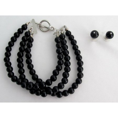 TB1157  Attractive Bracelet Black Pearls Party Wear Mother Of Bride Jewelery