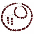 NS1361 Apple Red Color Jewelry Set Wedding Jewelry Special Customize Holiday Gift