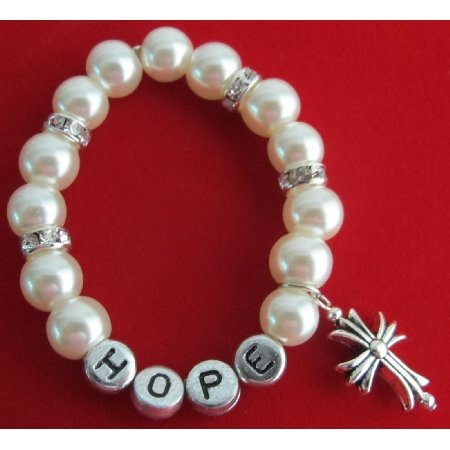 GC501 Personalized Baptism Christian Bracelet Cross Bracelet