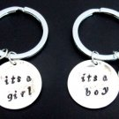 Baby Shower Gift Baby Shower Keyring It's a Boy, It's a Girl Keychain New Born Baby Keychain,