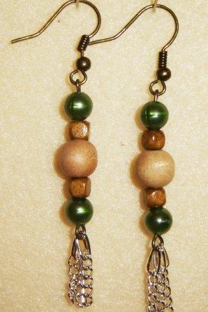 Wooden Earrings #2