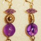 Purple Glass Earrings