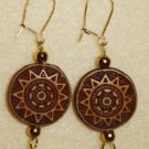 Sun Dial Earrings